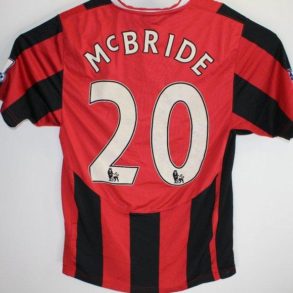 RARE VTG Brian McBride Nike Fulham Jersey Shirt S